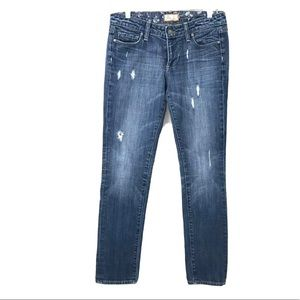 Paige Jeans Ankle Peg Mid Rise Cropped Skinny 28